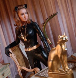 Catwoman and gold cat