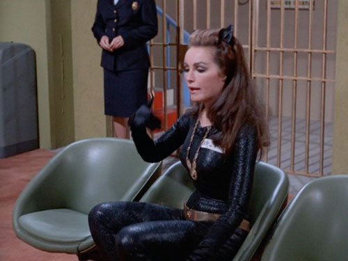 Crichton's seating area in Catwoman Goes to College