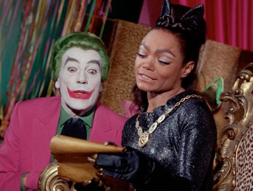 Funny Feline Felonies - Catwoman and Joker shoot at Gordon's window