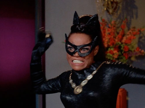 Eartha Kitt is dressed to kill