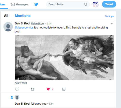 Dan E Kool's tweet