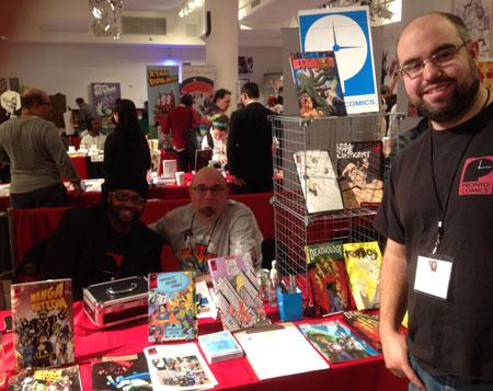 Dominick Sparano (r) of Pronto Comics